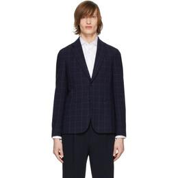 Giorgio Armani Navy Wool Seersucker Blazer 9SGGG054 T01GR FBWF