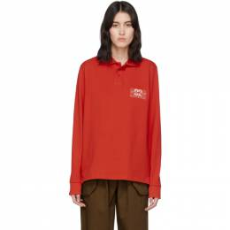 Martine Rose Red Jacquard Polo CMRSS20-902