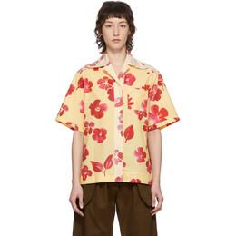 Wales Bonner Yellow Floral Havana Short Sleeve Shirt WS20SH02-POP404B-1135