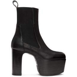 Rick Owens Black Kiss Chelsea Boots RU20F3845 LDE