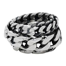 Emanuele Bicocchi Silver Spiral Chain Ring DSA2