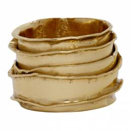 Emanuele Bicocchi Gold Textured Ring SBA01G