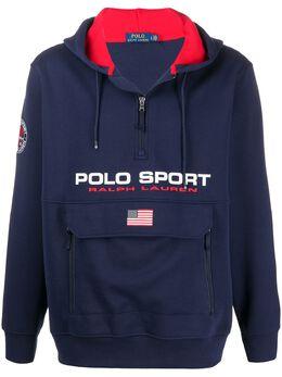 Polo Ralph Lauren худи с воротником на молнии и логотипом 710790860