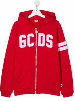GCDS Kids худи на молнии с логотипом 022500