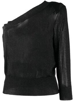 Federica Tosi джемпер в мелкую точку на одно плечо FTE20MK085