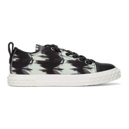 Giuseppe Zanotti Design Black and Off-White Blabber Sneakers RM00014 84591