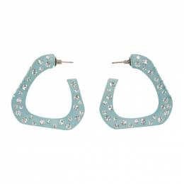Simon Miller Blue Triangle Hoop Earrings S753-8005