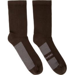 Rick Owens Brown Glitter Socks RU20S7498 C
