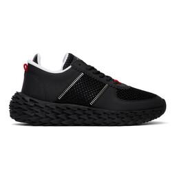 Giuseppe Zanotti Design Black Mesh Urchin Sneakers RM00029 84406