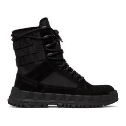 Versace Black High Sneaker Boots DSU7885 DCRTEG