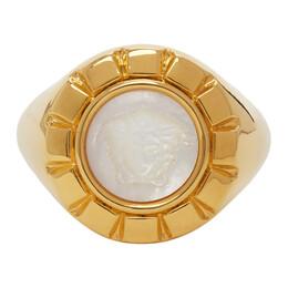 Versace Gold and White Palazzo Ring DG57909 DJMTD