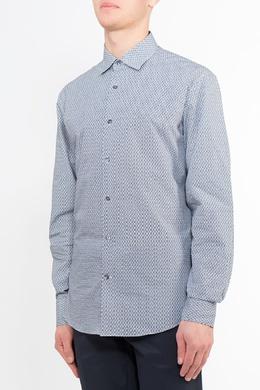 Белая принтованная рубашка Salvatore Ferragamo 510182716