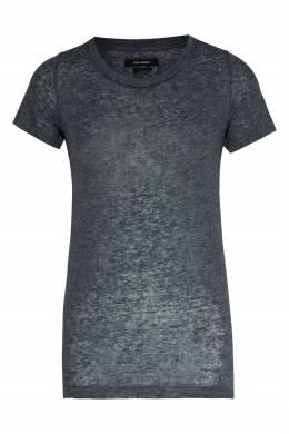 Серая льняная футболка Isabel Marant 140182476