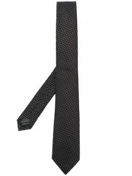 Z Zegna галстук с геометричной вышивкой Z7Z011SV