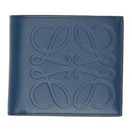 Loewe Blue Bifold Wallet 106.54A302