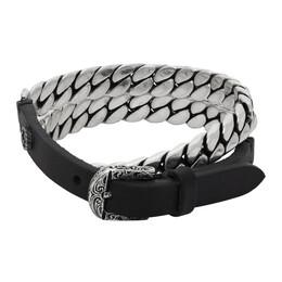 Gucci Black and Silver Gucci Garden Bracelet 599812 J7648
