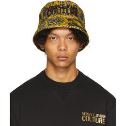 Versace Jeans Couture Grey Leo Chain Print Bucket Hat EE8GVAK03 ES0653