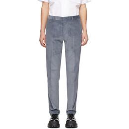 Ami Alexandre Mattiussi Blue Corduroy Cigarette Trousers P20HT004.234