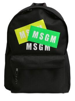 Рюкзак Из Канвас С Логотипом MSGM 71I93F043-MTEw0