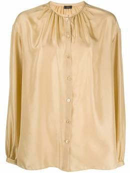 Joseph атласная блузка с воротником-стойкой и сборками JF004043