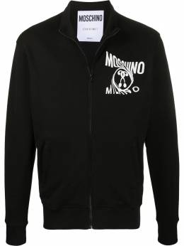 Moschino толстовка на молнии с логотипом A17170227