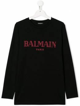 Balmain Kids толстовка с логотипом 6L8590LX160