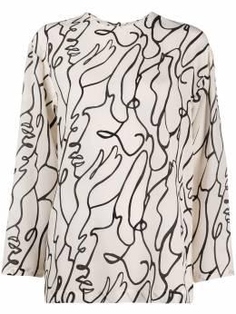 Alysi блузка с абстрактным принтом 100253P0023