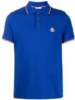 Moncler рубашка-поло с нашивкой-логотипом 8A7030084556