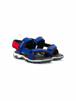 Lanvin Enfant сандалии на липучке с логотипом 59997