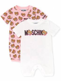 Moschino Kids комплект из двух ромперов с принтом MUY02PLAB16