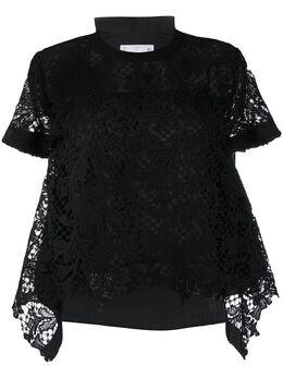 Sacai футболка с прозрачными рукавами 2004939