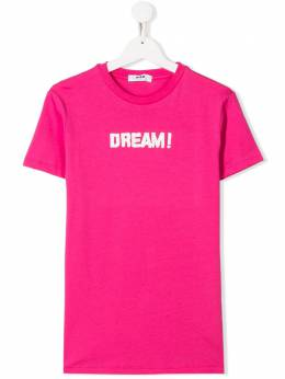 MSGM Kids футболка с надписью Dream! футболка с надписью Dream! 022104T
