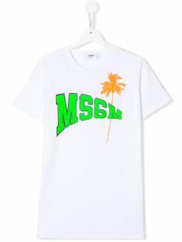 MSGM Kids футболка с логотипом 022086