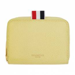 Thom Browne Yellow Slim Short Zip-Around Wallet FAW062A-00198