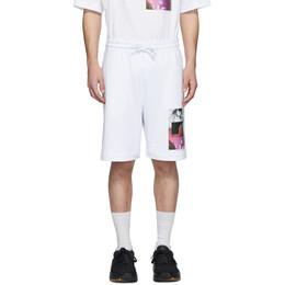Dries Van Noten SSENSE Exclusive White Mika Ninagawa Edition Print Shorts 21101-9613-001