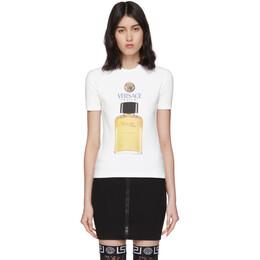 Versace White Perfume T-Shirt A85908 A232123