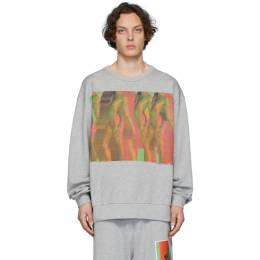 Dries Van Noten Grey Mika Ninagawa Edition Print Sweatshirt 21198-9613-813