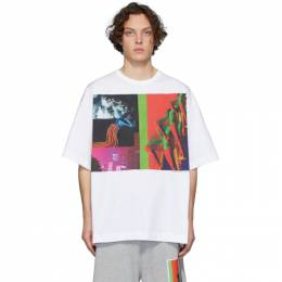 Dries Van Noten SSENSE Exclusive White Mika Ninagawa Edition Print Half-Sleeve T-Shirt 21124-9612-001