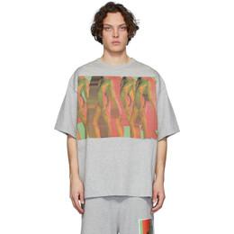 Dries Van Noten SSENSE Exclusive Grey Mika Ninagawa Edition Print Half-Sleeve T-Shirt 21124-9612-813