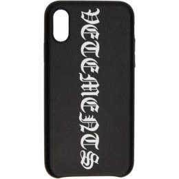 Vetements Black Vertical Logo iPhone XS Max Case SS20SA009