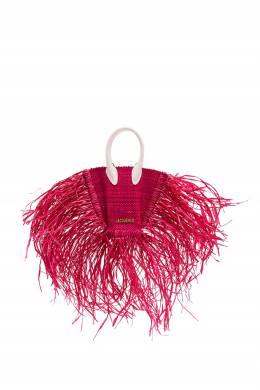 Мини-сумка из рафии цвета фуксии Jacquemus 2985182760