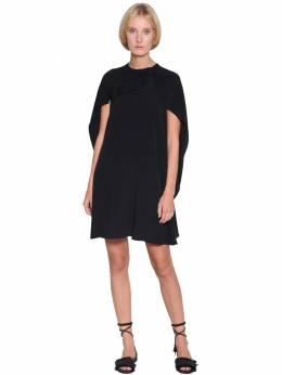 Платье Из Атласного Крепа С Накидкой Red Valentino 71IR1Z005-ME5P0