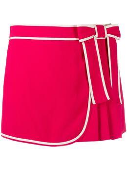 Red Valentino юбка-шорты с контрастной вставкой TR3RFC402EU