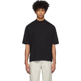 Acne Studios Black Mock Neck T-Shirt BL0149