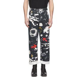 Charles Jeffrey Loverboy Navy Asteroids Print Art Jeans CJLSS20ADJE