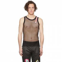 Charles Jeffrey Loverboy Black Knit Mesh Vest CJLSS20MV