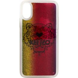 Kenzo Multicolor Glitter Tiger Head iPhone X/XS Case FA5COKIFXTLQ