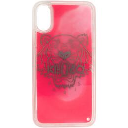 Kenzo Pink Glow-In-The-Dark Tiger Head iPhone X/XS Case FA5COKIFXSAN