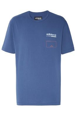 Синяя футболка Kaval Graphic Adidas 819111311