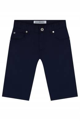 Синие прямые шорты Bikkembergs 1487183449